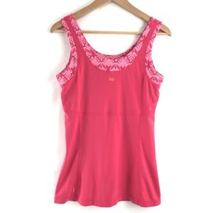 Lucy Tops - Lucy Coral Scoop Neck Yoga Workout Long Tank